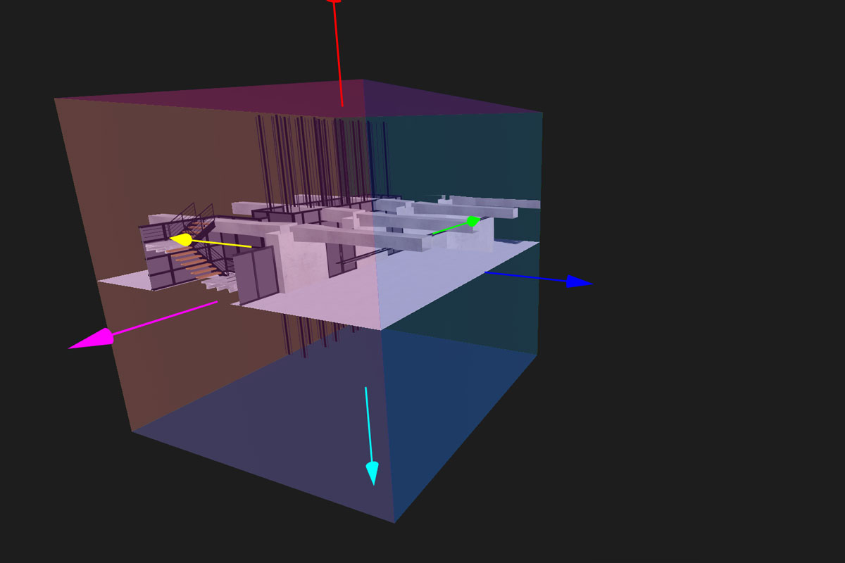 Slice plan on 3D mesh in Arskan MoveInside 3D viewer